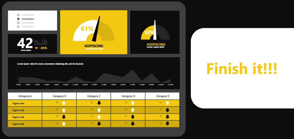 Microsoft Power BI Finish your dashboards
